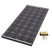 Biard 100w Black Framed Solar Pv Panel With 10a Waterproof Charge Controller