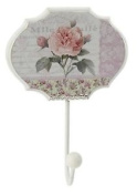 Pink Rose Hook Romantic White Shabby Chic County Rustic Vintage New