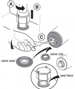 Ideal Standard Sv01967 Dual Flush Valve Diaphragm Seal & Clip