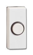 1 X Dp220a-c - Kingshield Hard Wired Bell Push - White Body Black Insert/outline