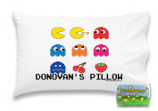 """Customizable, """"Pac-Man Arcade"""" Pillowcase. Personalised With Your Child's Name - Perfect Gift For Boys And Girls Of All Ages! Xbox One Playstation 4"""