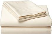 Wamsutta 525 Thread Count Pima Sateen Full Flat Sheet, Ivory