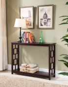 Kings Brand Furniture Wood Entryway Console Sofa Occasional Table, Cherry