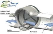 2 x Lazy Lizard Rainwater Water Tank Filter