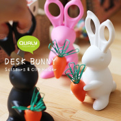 QUALY Desk Bunny Scissors and Clip Holder