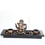 Elephant Head Ganesha Ornament Statue Candle Holders Gift Set HY1418
