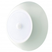 Mr. Beams Ultra Bright Wireless Battery Powered Motion Sensing Indoor/Outdoor LED Ceiling Light, Plastic, White, 300 lm