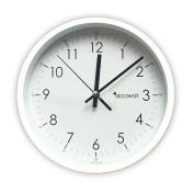 Decowall DSH-M22W Silent Quite Non Ticking Metal Modern Wall Clock for Living Room Bedrooms Office Kitchens