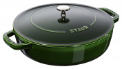 Staub 40511 479/0 Basil with Chistera Cast Iron Oval Casserole, 24 cm