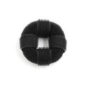 DealMux Nylon Black Round Bun Donut Shaped Hairstyle Ladies Updo Style Hair Twist Tool