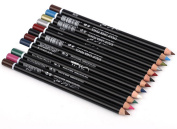MeNow Makeup Silky Pen Pencil Shimmer 12 Colour Black Set Eye Lip Lipliner Shadow