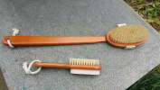 Body Brushing Set Dry Skin Brush with Foot Brush and Pumice Stone Clean Massage Home Spa Treatment