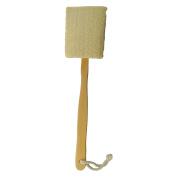 Natural Exfoliating Loofah Bath Brush-Long Wooden Handle Back Brush For Men & Women-Shower Scrubber,Pack of 1