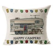 Leoy88 Comfortable Home Pillow Case Sofa Waist Throw Cushion Cover Home Decor