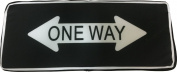 Classic Street Highway Traffic Road Sign One Way Plush Pillow Decoration