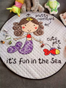 Mermaid Baby Kids Game Rugs Carpets Cotton Play Mats Children's Fun Time Nursery Room Decorations
