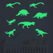 Stickers Luminous, ZTY66 Glow In The Dark 9PCS Dinosaurs Plastic Mural Stickers for DIY Home Decor
