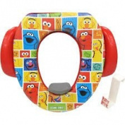 Ginsey Soft Potty Seat – Sesame Street, Padded, Soft and Durable w/Potty Hook Included