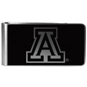 NCAA Arizona Wildcats Black & Steel Money Clip