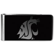 NCAA Washington State Cougars Black & Steel Money Clip