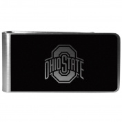 NCAA Ohio State Buckeyes Black & Steel Money Clip