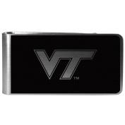 NCAA Virginia Tech Hokies Black & Steel Money Clip