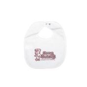 Mississippi State Bulldogs Newborn Vinyl Snap Bib - All White