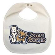 Byu Cougars Newborn Vinyl Snap Bib - All White