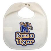 Memphis Tigers Newborn Vinyl Snap Bib - All White