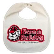 Georgia Bulldogs Newborn Vinyl Snap Bib - All White