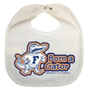 Florida Gators Newborn Vinyl Snap Bib - All White
