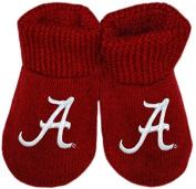 University of Alabama Crimson Tide Script A LogoNCAA Licenced Solid Colour Newborn Baby Bootie Sock