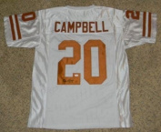 Signed Earl Campbell Jersey - Ut #20 White - JSA Certified - Autographed College Jerseys