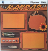 Kansas Collage 30cm x 30cm Scrapbook Paper - 1 Sheet