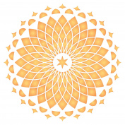 """Wall Mandala Stencil - (size 14""""w x 14""""h) Reusable Wall Stencils for Painting - Best Quality Decor Ideas - Use on Walls, Floors, Fabrics, Glass, Wood, and More…"""