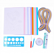 Beginners Paper Quilling Kits with Paper Strips and Quilling Tools