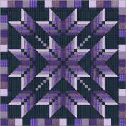 Easy Quilt Kit Exploding Star Purple 3D