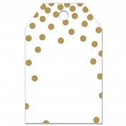 Metallic Gold Dots Printed Gift Tags - 2 1/4 x 3 1/2