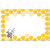 Bumblebee and Honeycomb Enclosure Cards or GiftTags - 3-1/2 x 2-1/4