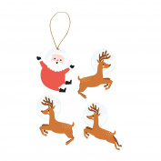 C.R. Gibson Gift Tags 3 Each of 4 Designs, Merry Bright
