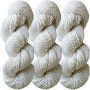 Living Dreams FLAX BOTANICA DK YARN. Elegant Merino Linen Silk for Knitting and Crochet. Cruelty Free, Responsibly Sourced, Pacific Northwest Handmade. Bulk Discount Pack, Pearl