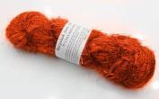 100g Recycled Sari Silk Yarn Hand-spun Orange Soft Yarns