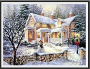 NEW DIY diamond embroidery Christmas Snow Landscape diy Painting Handpainted Canvas,diy diamond Painting Unique home Decoration Artwork