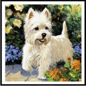 NEW Round dog diamond embroidery cross stitch wall decoration baby gifts DIY 5D cute animal series diamond painting