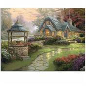 NEW Diamond embroidery Dream house 40x30 Diy Diamond painting square drill rhinestone pasted full Cross stitch crafts Needlework