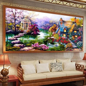 NEW DIY 5D Diamond mosaic Landscapes Garden lodge Painting Cross Stitch Kits Diamonds Embroidery Home Decoration