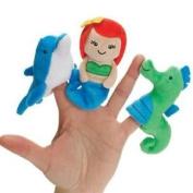 Manhattan Under The Sea Mermaid, Dolphin & Seahorse Finger Puppet