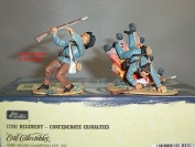 Britains 17291 Confederate Infantry Casualties Metal Toy Soldier Figure Set