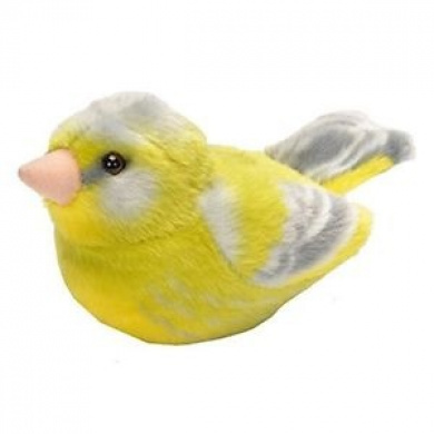 Wild Republic 19488 13 - 16cm Greenfinch With Real Bird Calls Plush Toy - Rspb