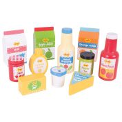 Bigjigs Toys Wooden Chilled Groceries - Pretend Food And Role Play For Children